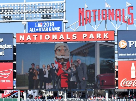 The Nationals baseball team and the Taft presidential mascot joined the celebration on the ball field