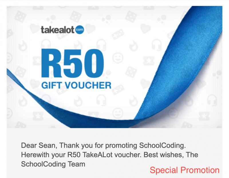 Win a R50 Gif Voucher from Takalot