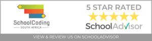 SchoolAdvisor rates SchoolCoding 5/5