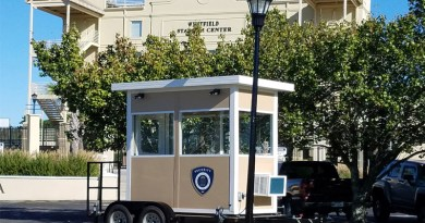 Trailer-Mounted Guard Booth