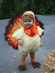 Cutie in a turkey costume