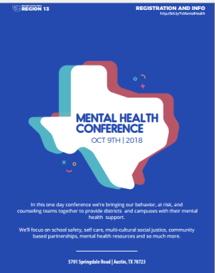 Join me at this fabulous Texas conference on mental health!