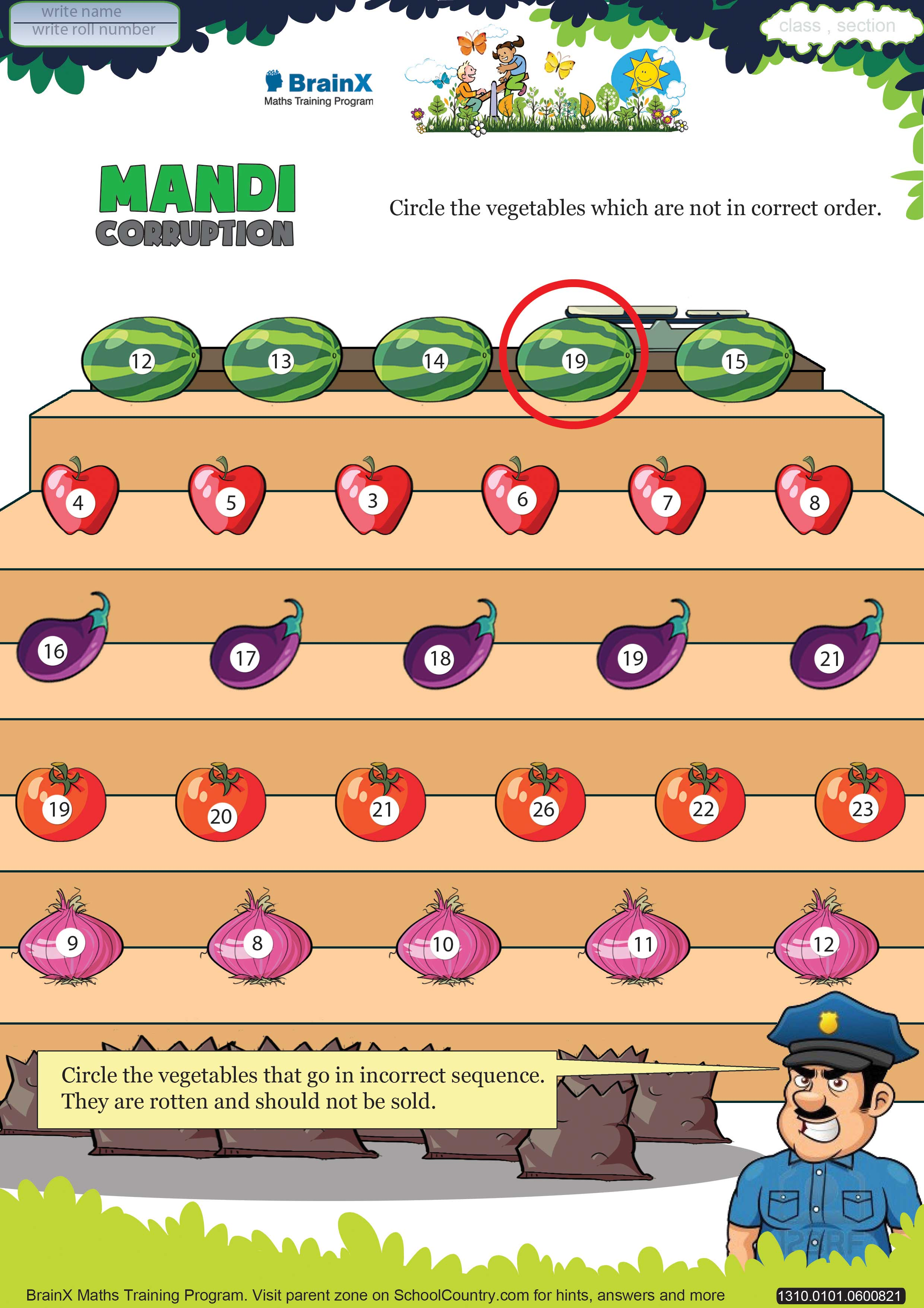 Printable Numbers Math Olympiad Worksheets For Kids Of Grade 1