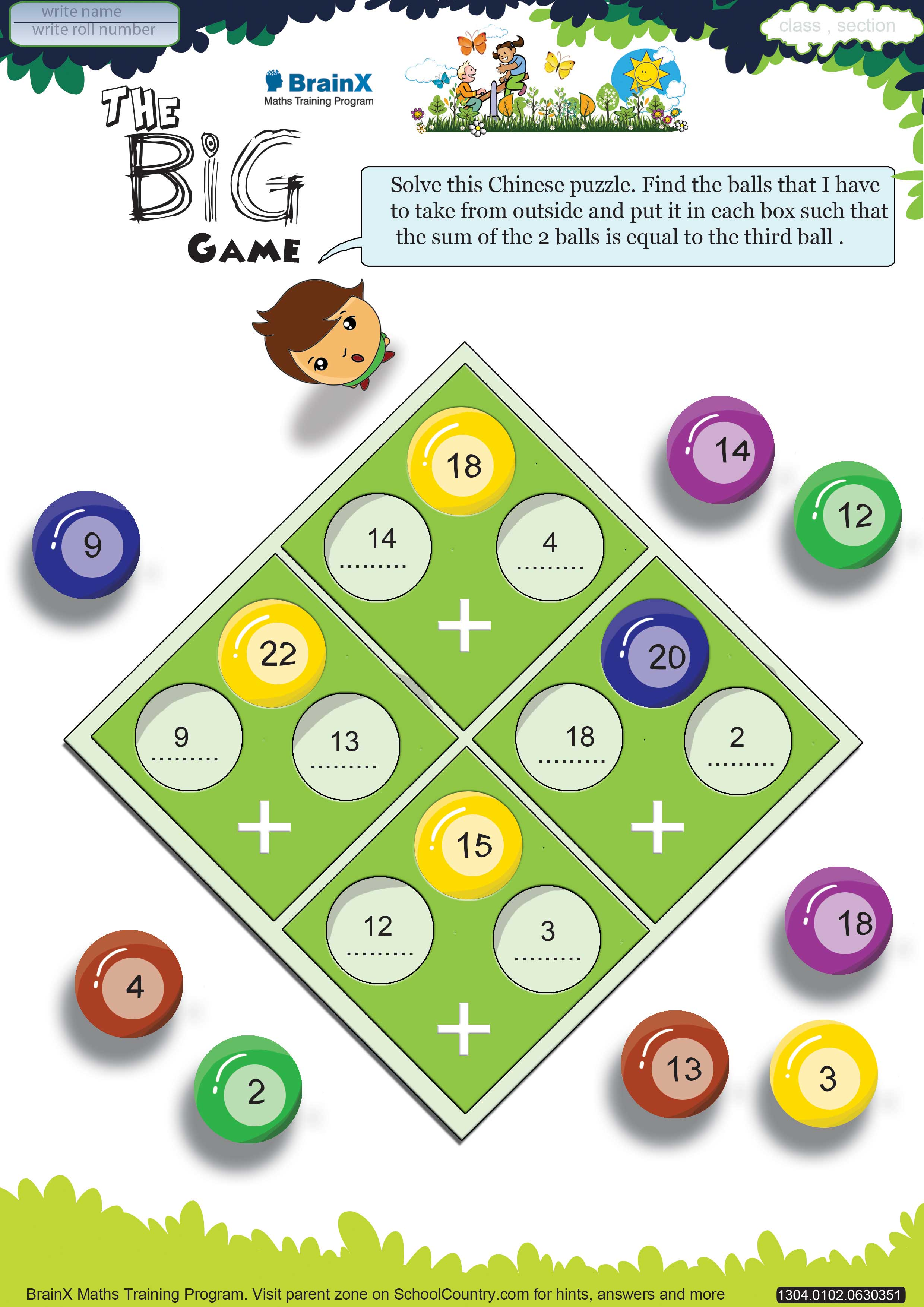 Printable Addition Math Olympiad Worksheets For Kids Of