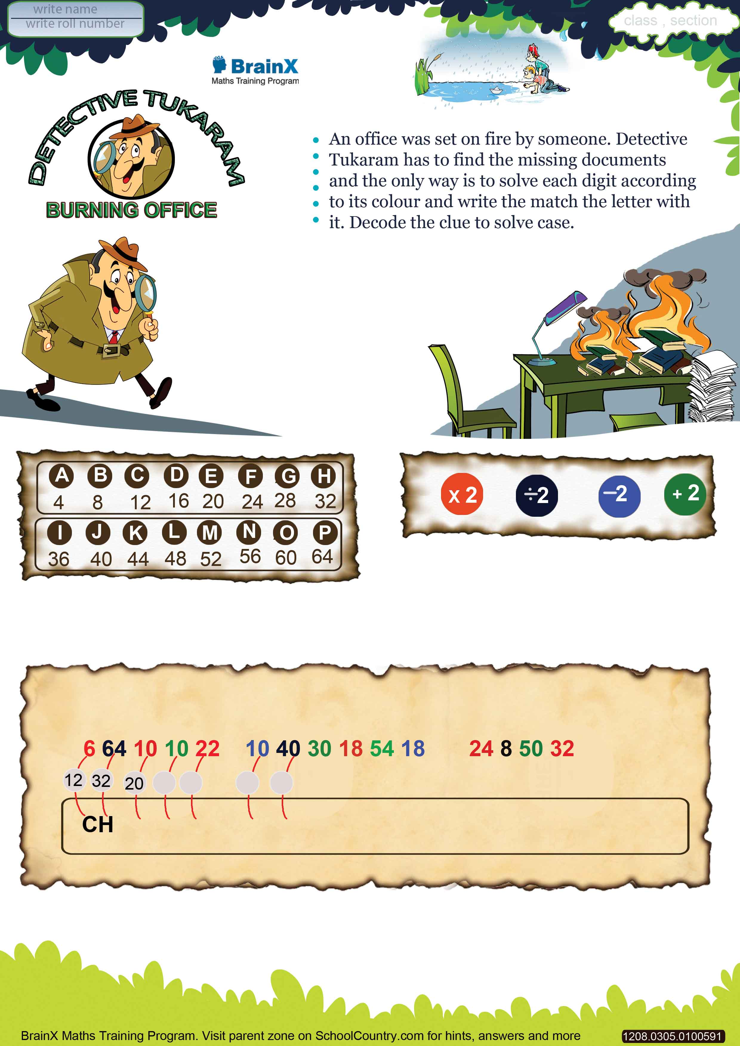 Printable Division Math Olympiad Worksheets For Kids Of