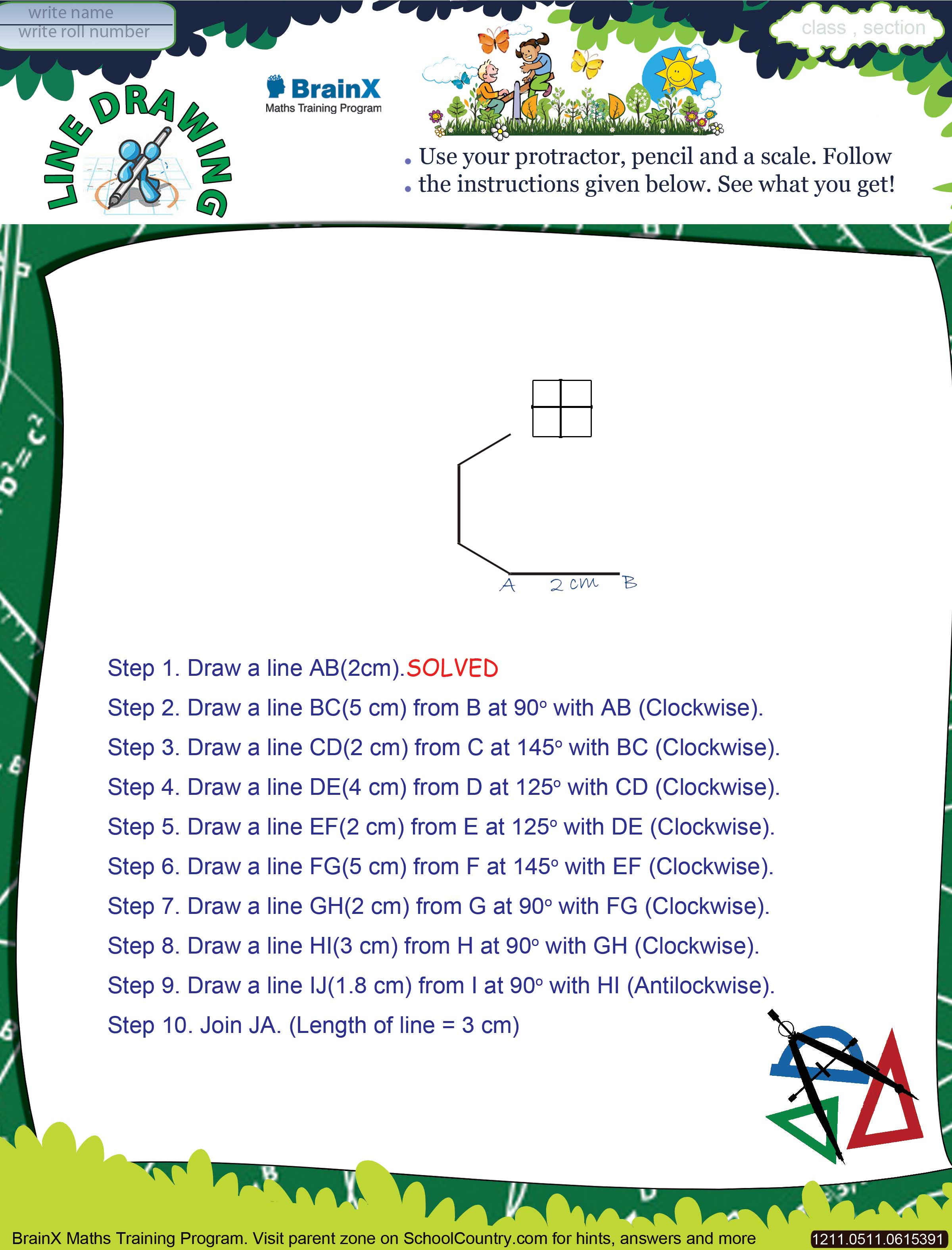 Printable Geometry Math Olympiad Worksheets For Kids Of Grade 5