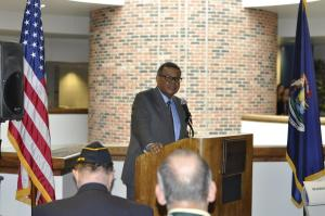 The Veterans center in the upper level of the McDowell center is a project that Dr.Jefress Schoolcraft President is very passionate about, and helped to make happen in order to better thank the veterans for their service. Photo taken by Nathan Gartner.