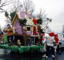 The Student Activities Board participated in several local holiday parades in the 1970s, including the one pictured in 1974.