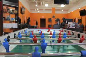 PHOTO BY JOE ZYLKA NEWS EDITOR Arcade Cuts is not only a fantastic place to relax and get a stylish haircut, but one can also enjoy its fine amenities, such as flatscreen TV's, an air hockey table and a foosball table.