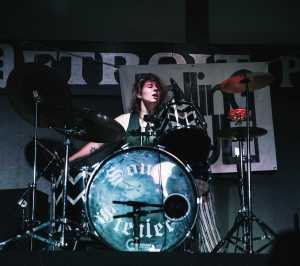 Drummer Brianna Ray of the Rolling Blue put a beating on the drums on Sept. 4 at the Detroit Pub in Clinton Township..