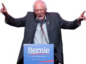 Bernie Sanders, image from scpr.org