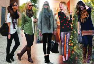 women wearing different styles of leggings