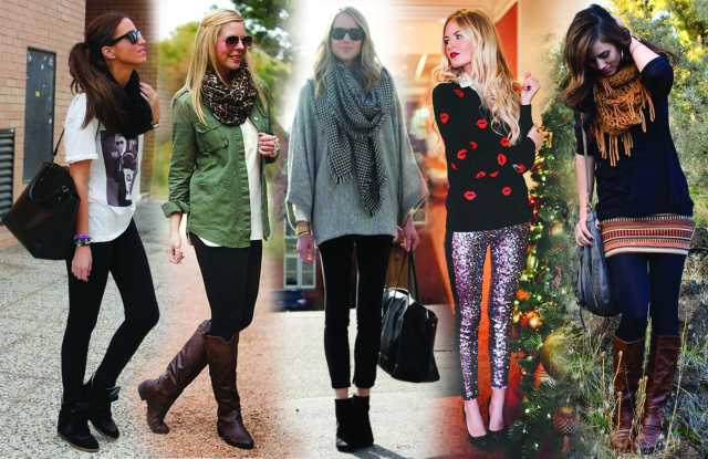 women wearing different styles of leggings
