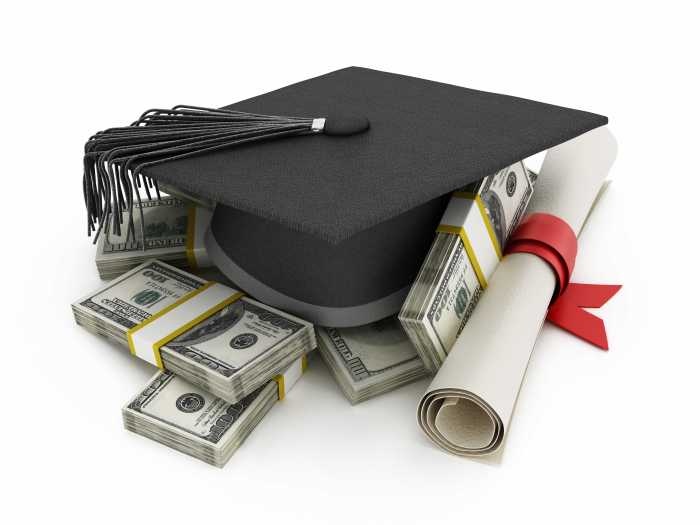 Cost of high education illustration