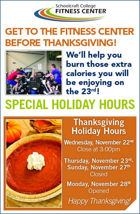 Fitness Center Connection Holiday Hours Ad 10-31-2017