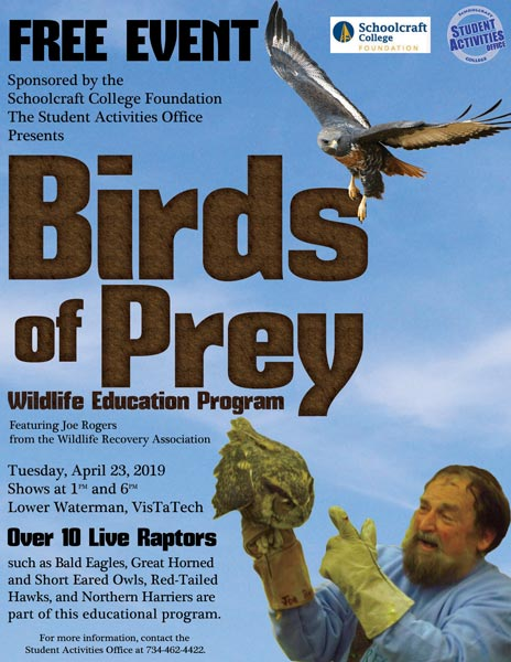 Birds of Prey show swoops onto campus April 23