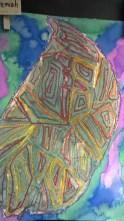 Schooled in Love: Oil Pastel Resist Leaves