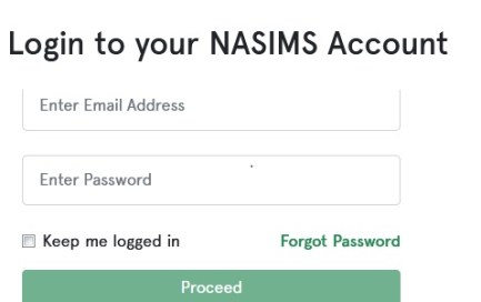 NASIMS Account Login Portal