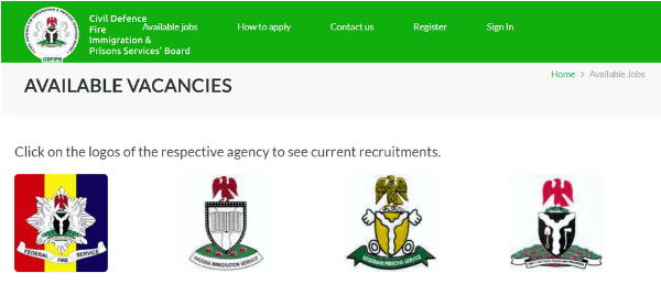 Immigration Recruitment nisrecruitment.name.ng Application Portal