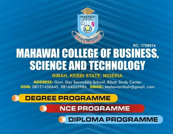 MACTEC College Admission Form