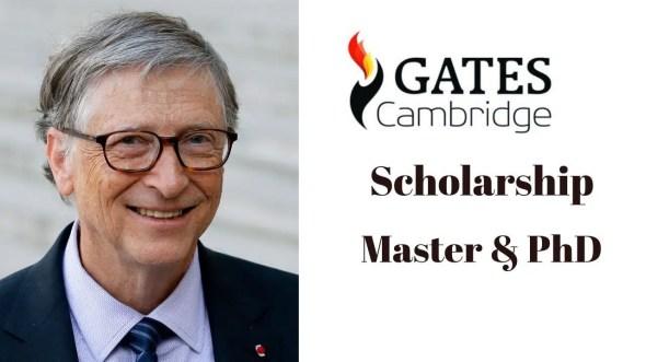 Bill Gates Cambridge Scholarship