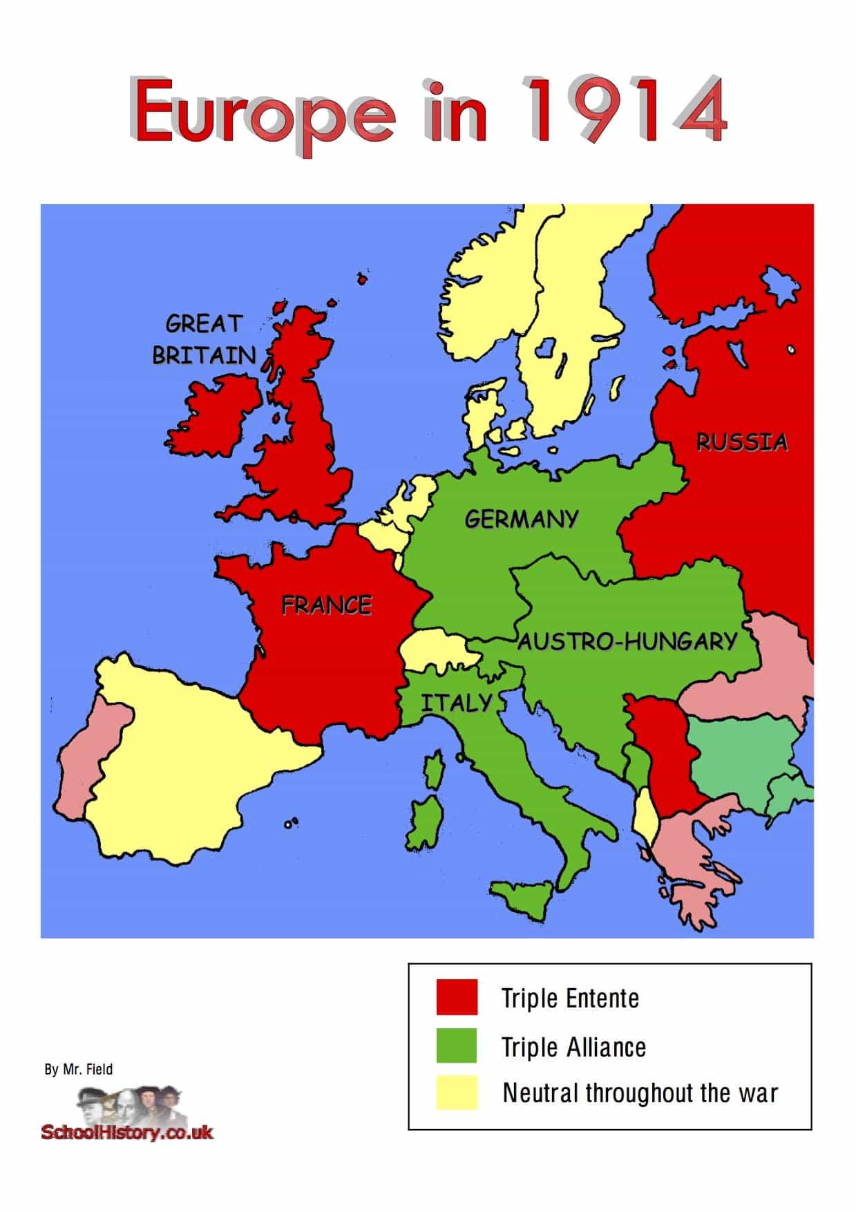 Ww1 Alliances Map
