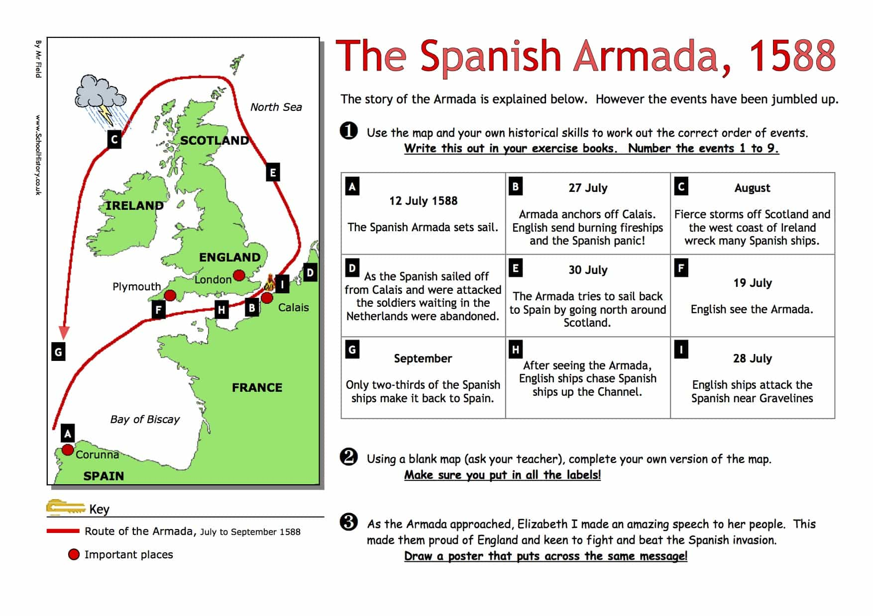 The Spanish Armada Worksheet
