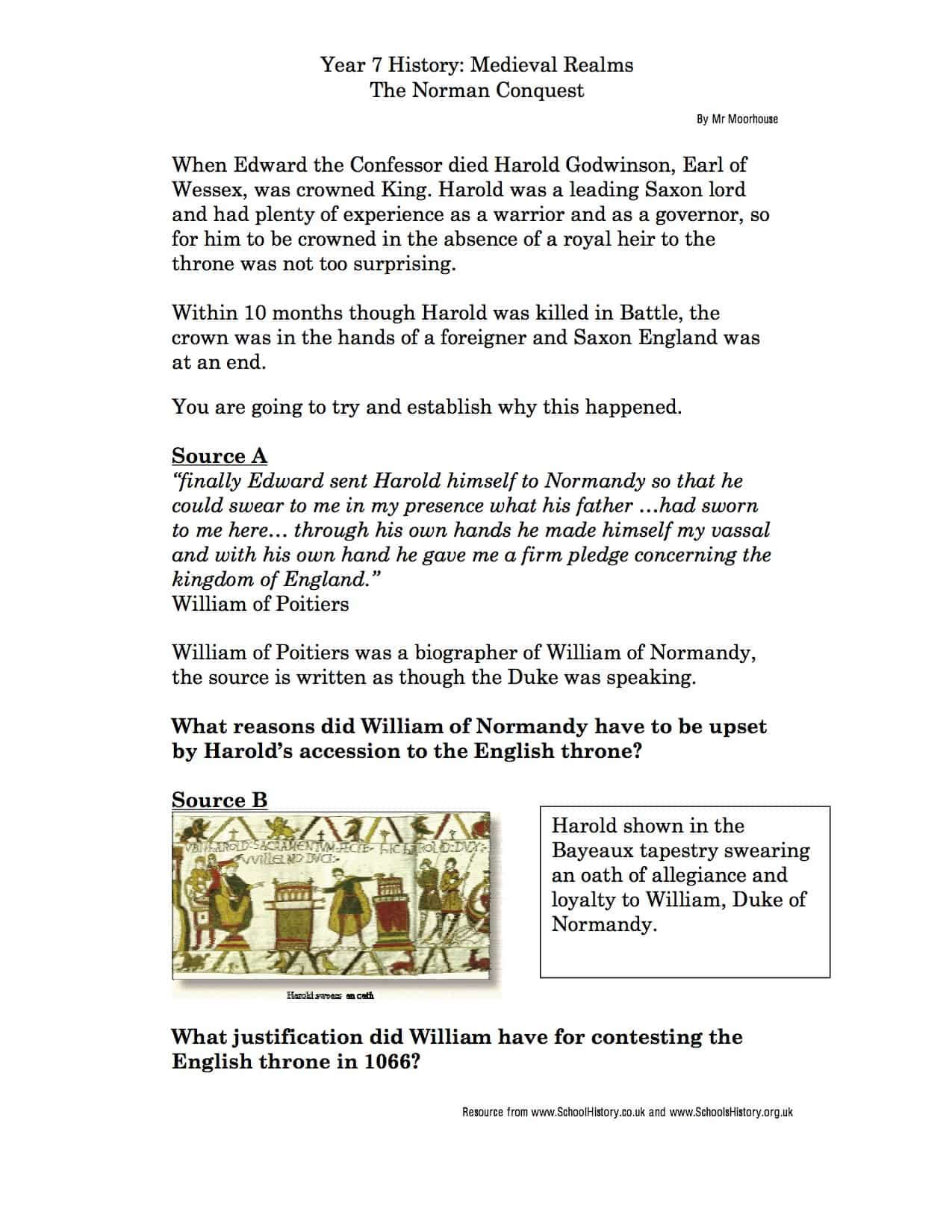 The Battle Of Hastings, Essay Sample