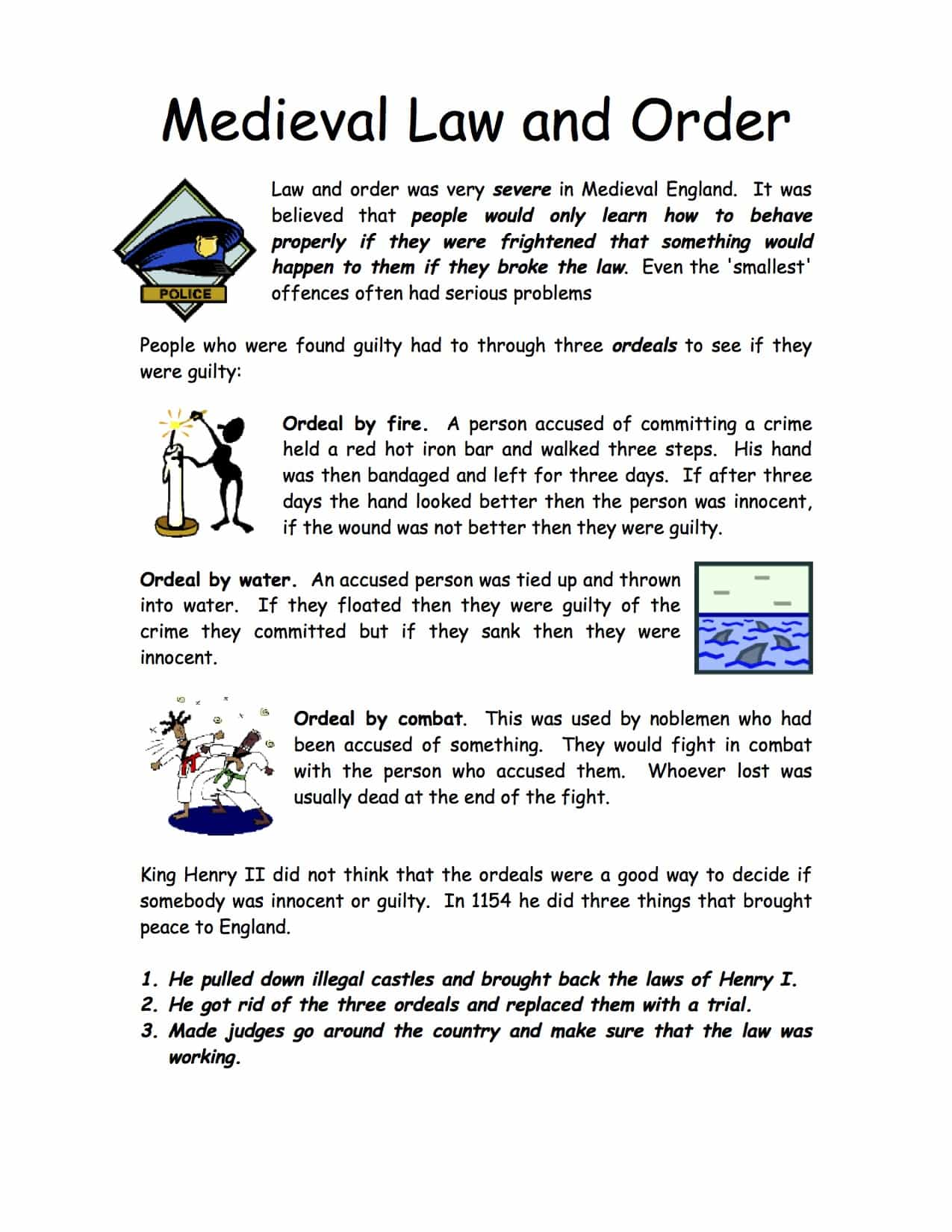 Middle Ages Worksheet Easy