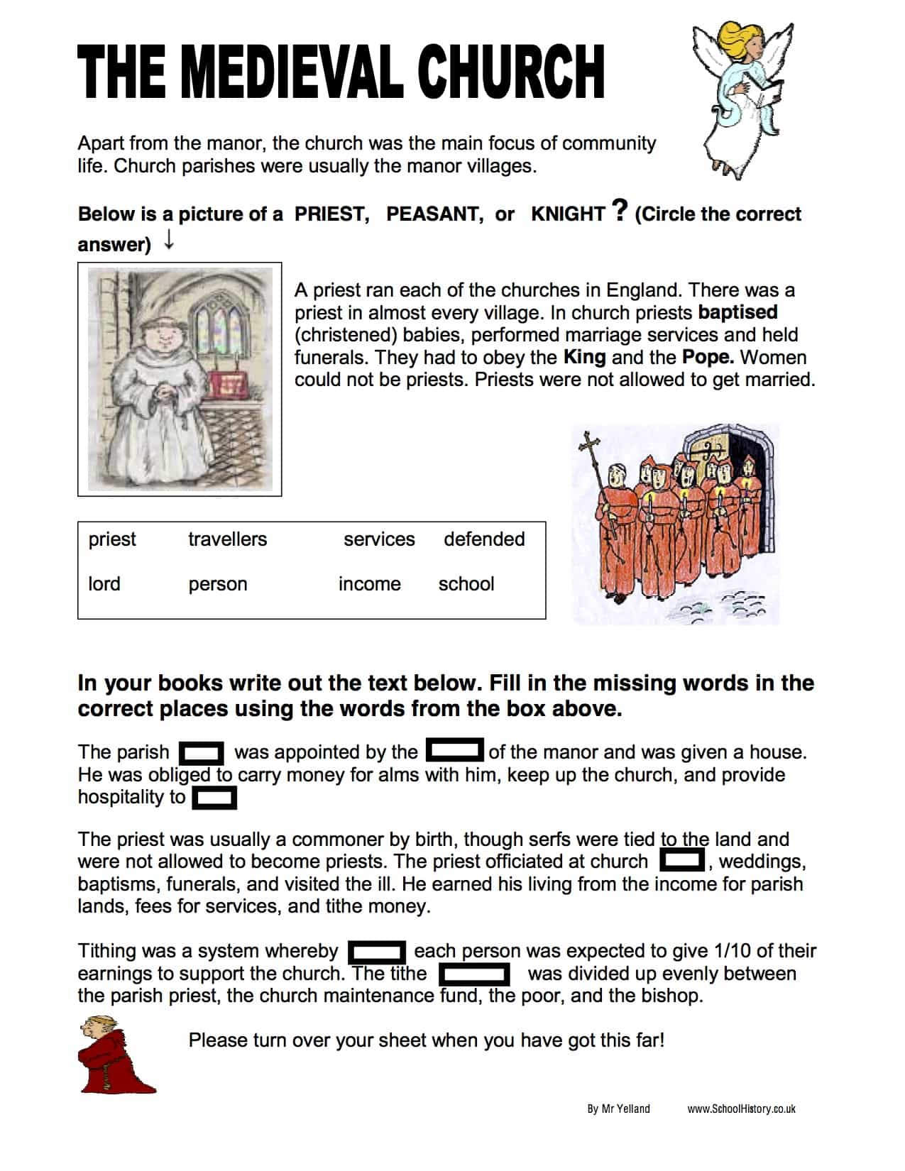 The Medieval Church Summary & Facts (SEN) - Free Worksheet