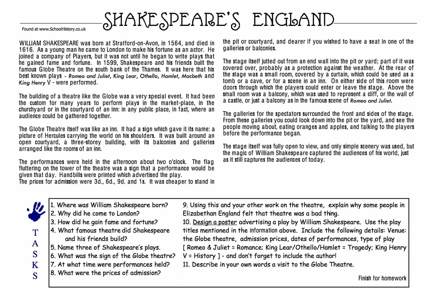 Shakespeare S England