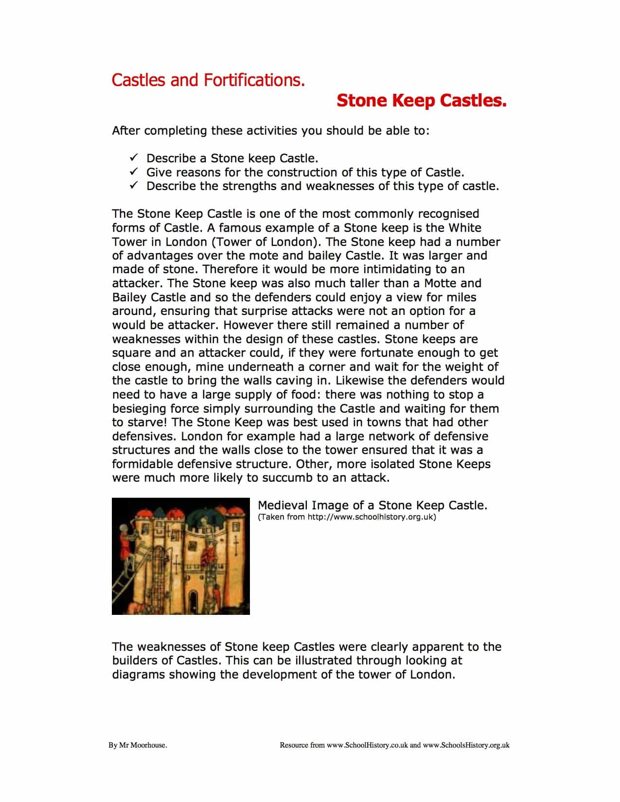 Development Of Stone Keep Castles Facts Amp Information