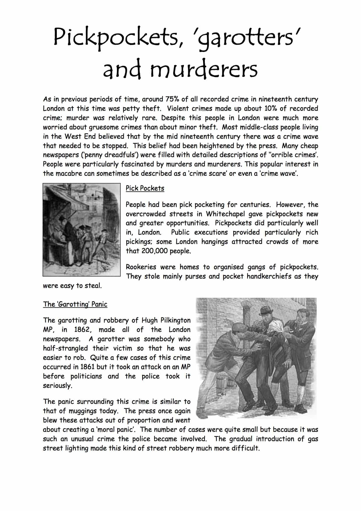 Types Of Crime In The Nineteenth Century Facts Amp Information