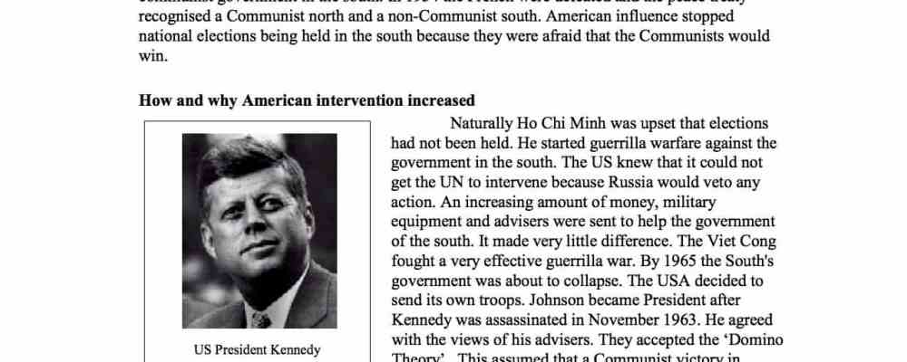 American Involvement In Vietnam