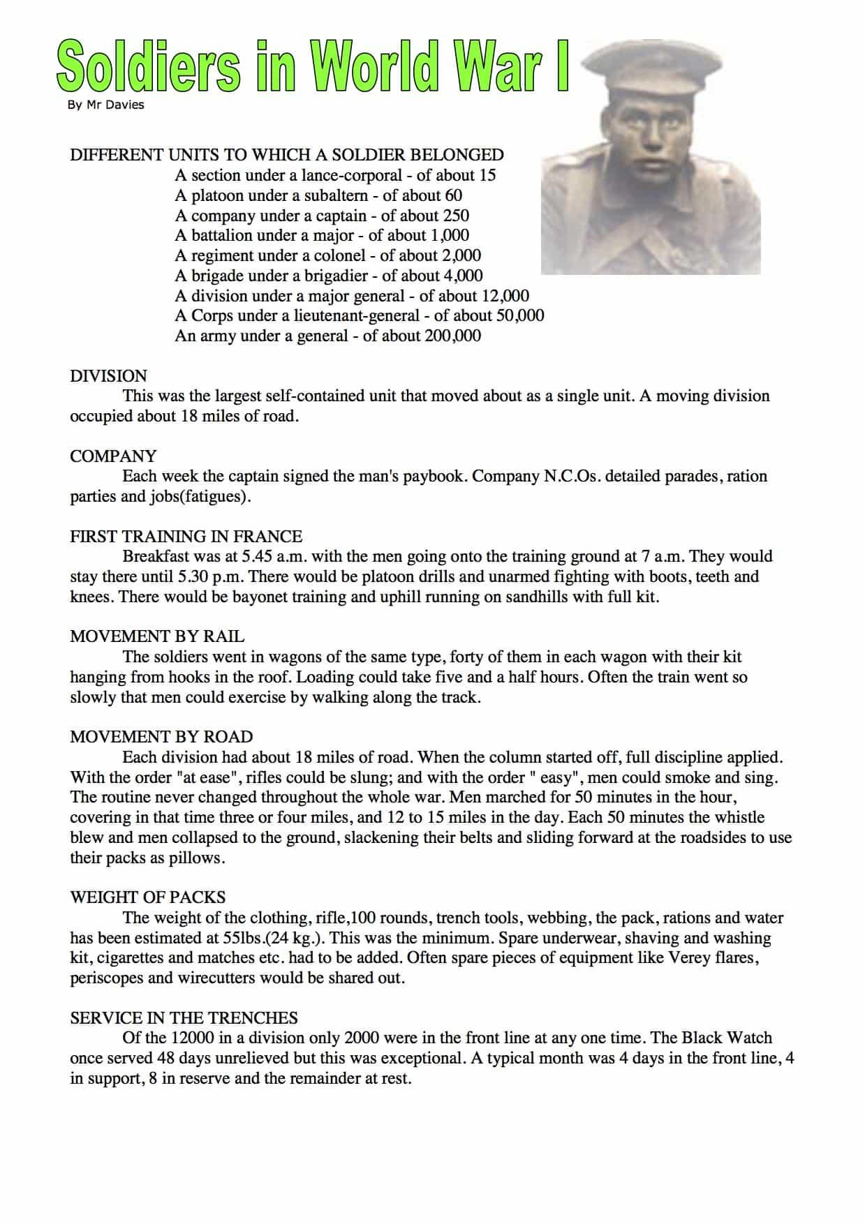 Easy World War 2 Worksheet