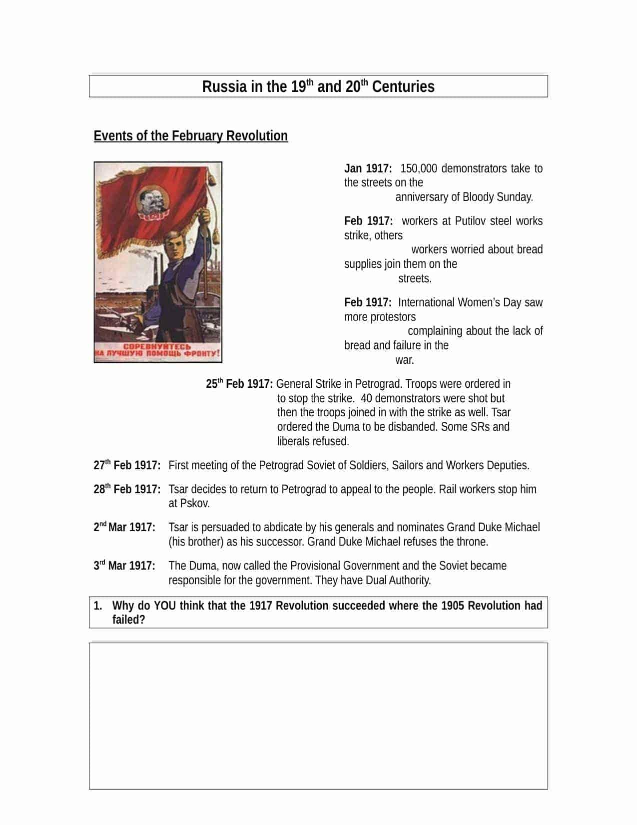 Premium History Worksheets