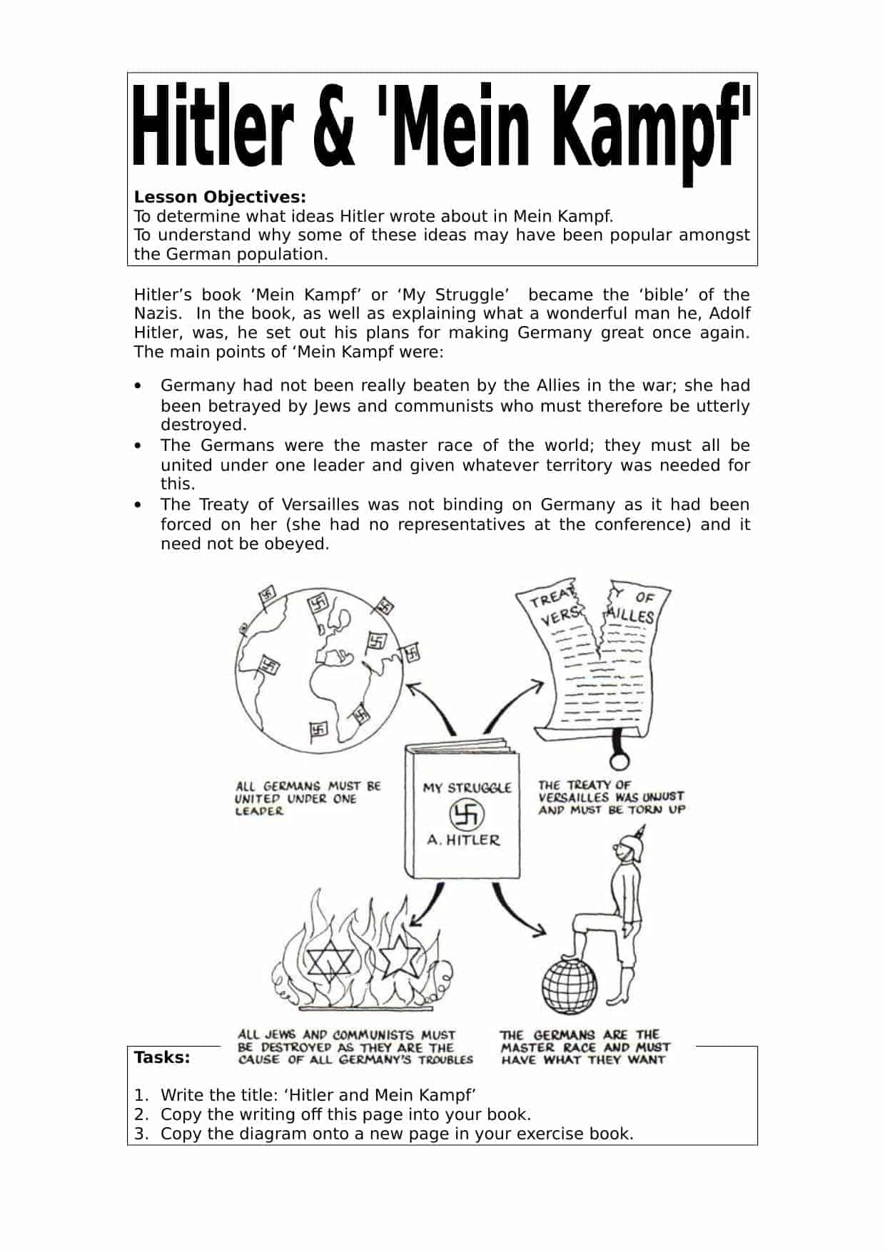 Nazi Germany Worksheets
