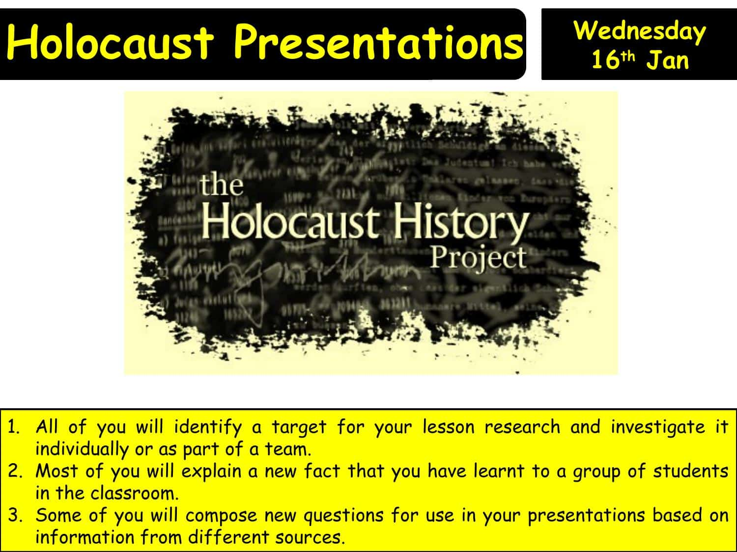 Holocaust Assessment Powerpoint