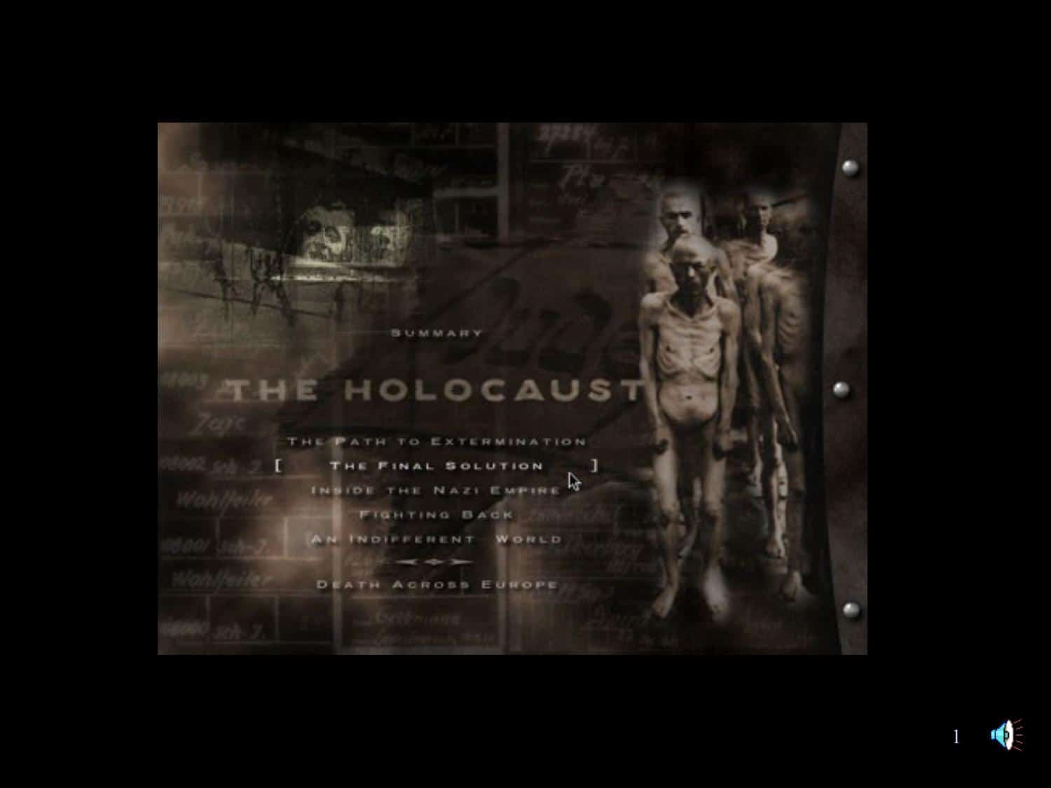 Holocaust Visual Introduction Powerpoint