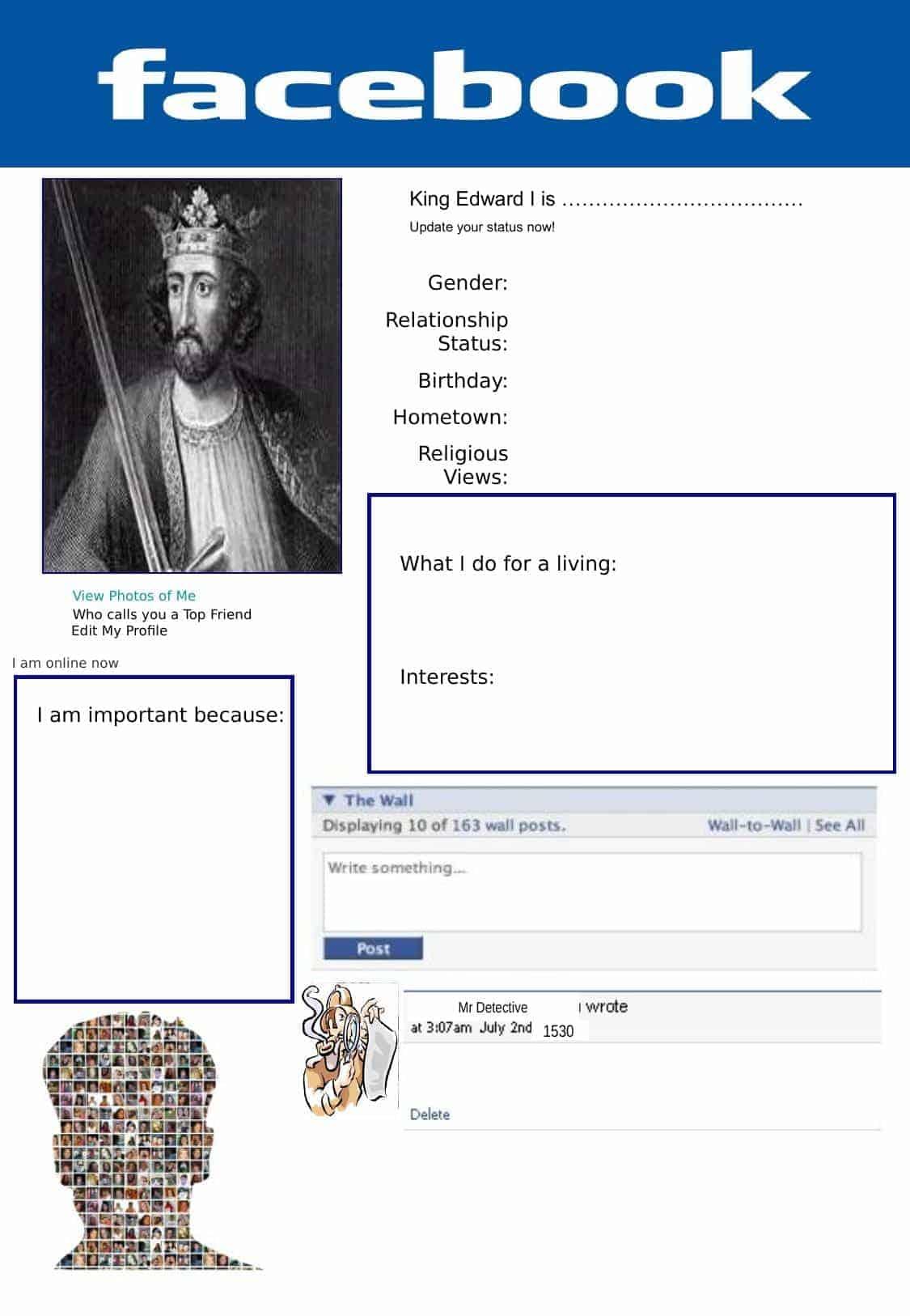 King Edward Facebook Fun Task