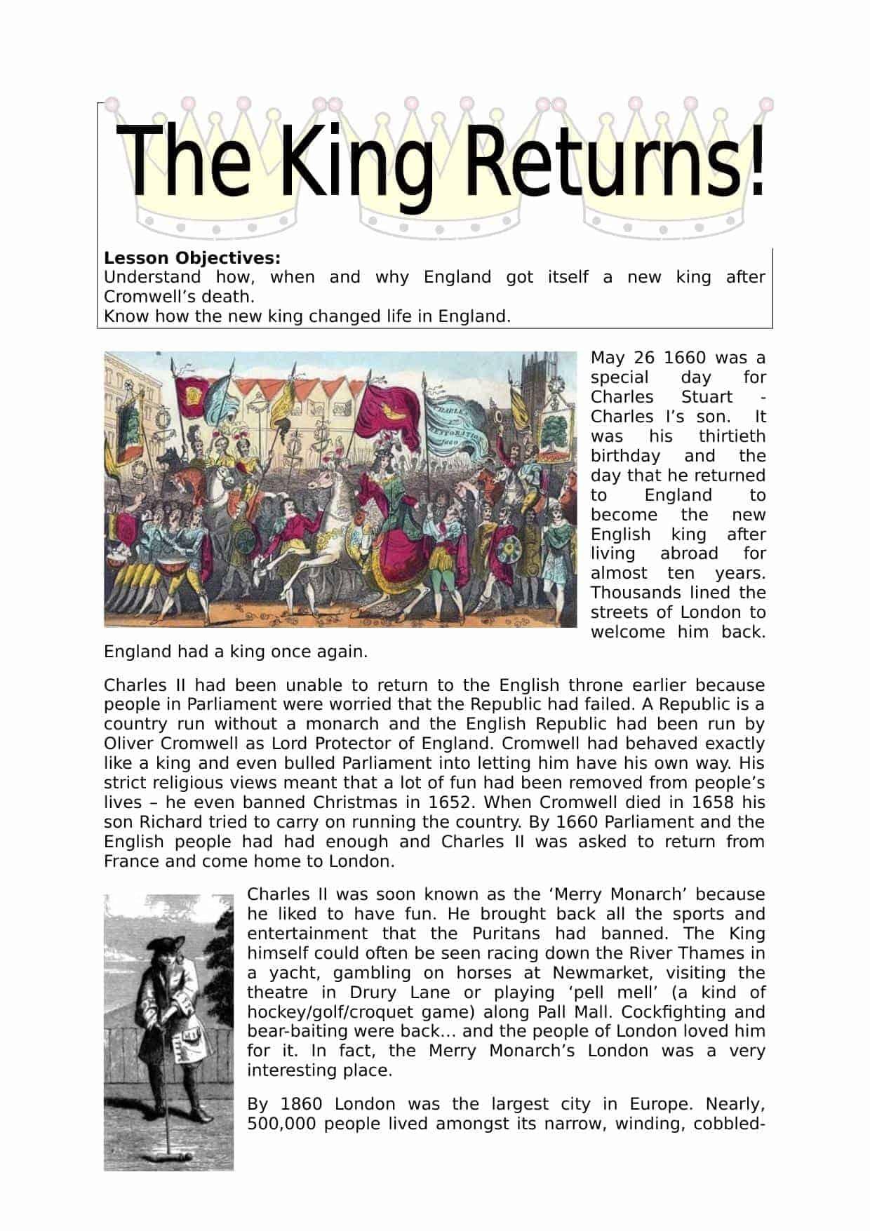 Charles Stuart As King