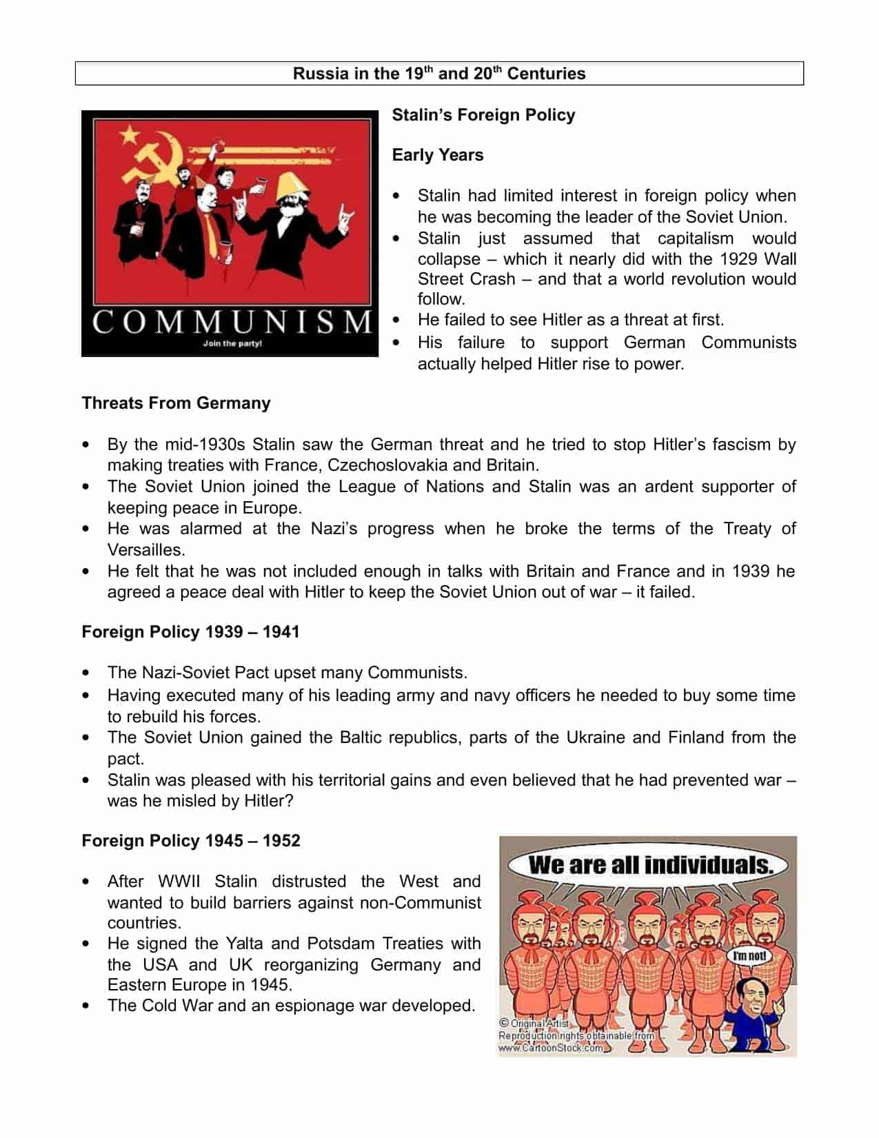 Stalin The Final Years Facts Amp Information