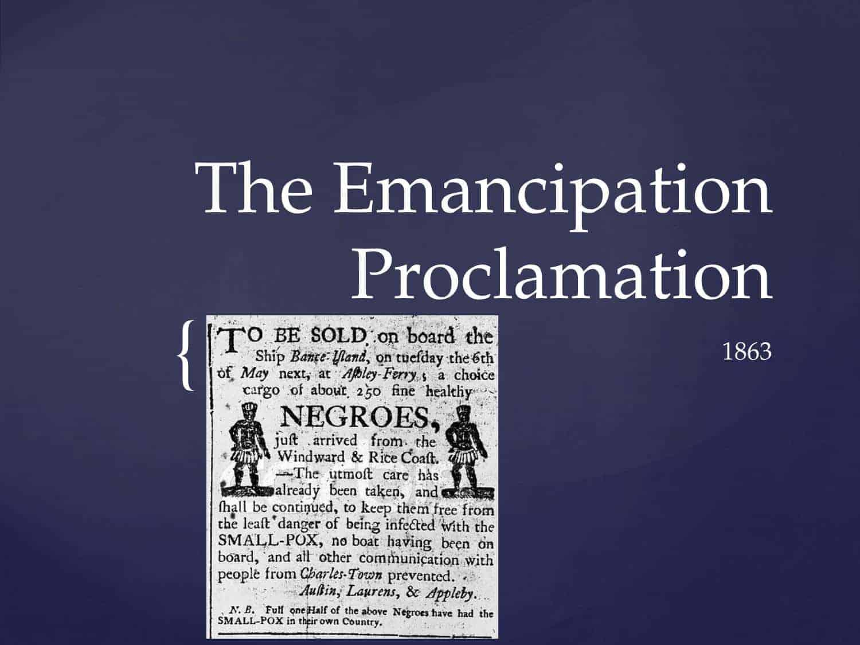 The Emancipation Proclamation Order