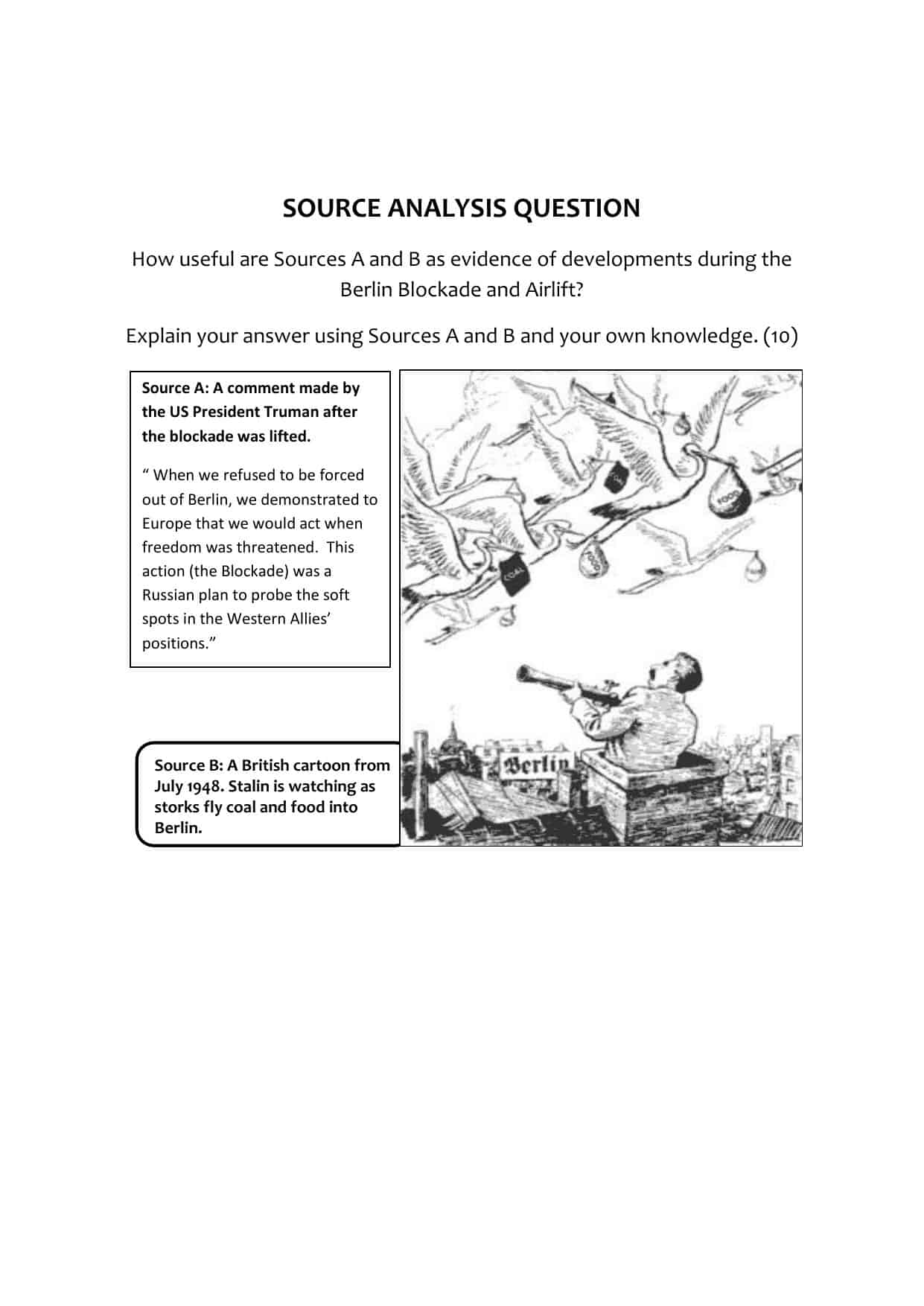Gcse History Sourceysis Question Worksheet