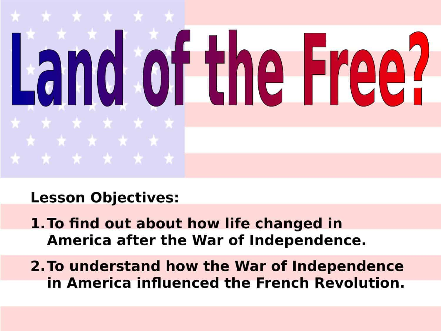 Land Of The Free Powerpoint