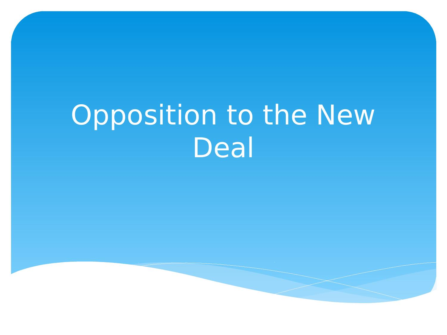 Opposition To The New Deal Powerpoint