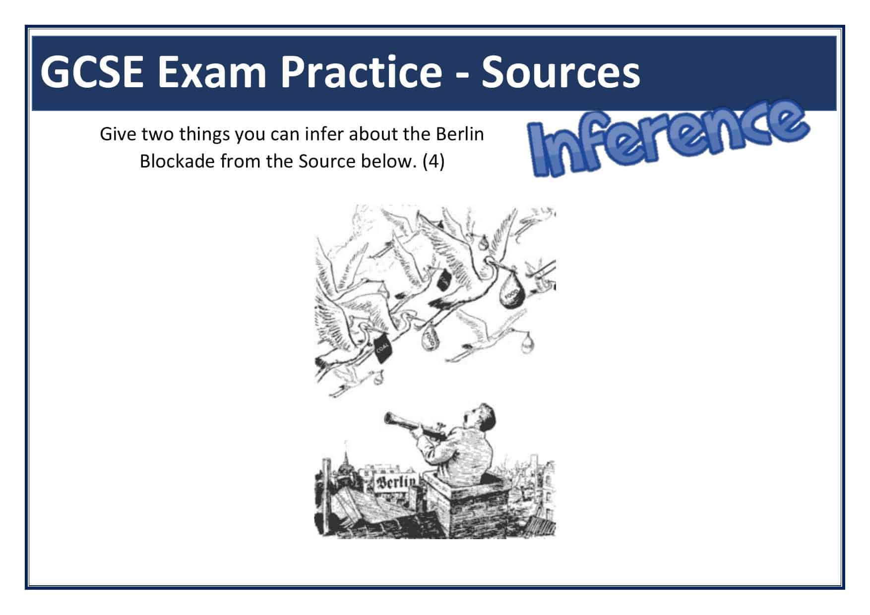Berlin Blockade Gcse Inference Source Question