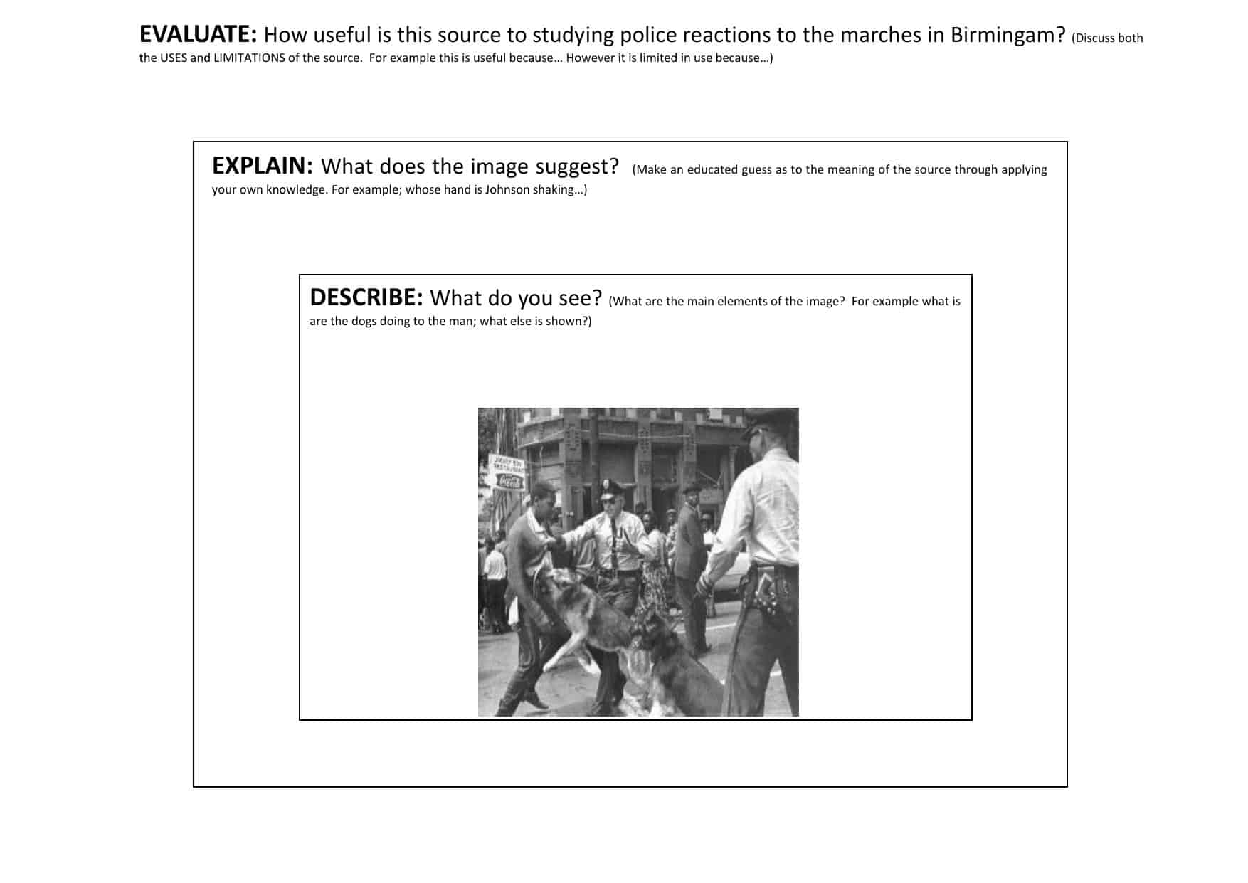 History Assessment Worksheets For Primary Ks3 Ks4 Amp As A2