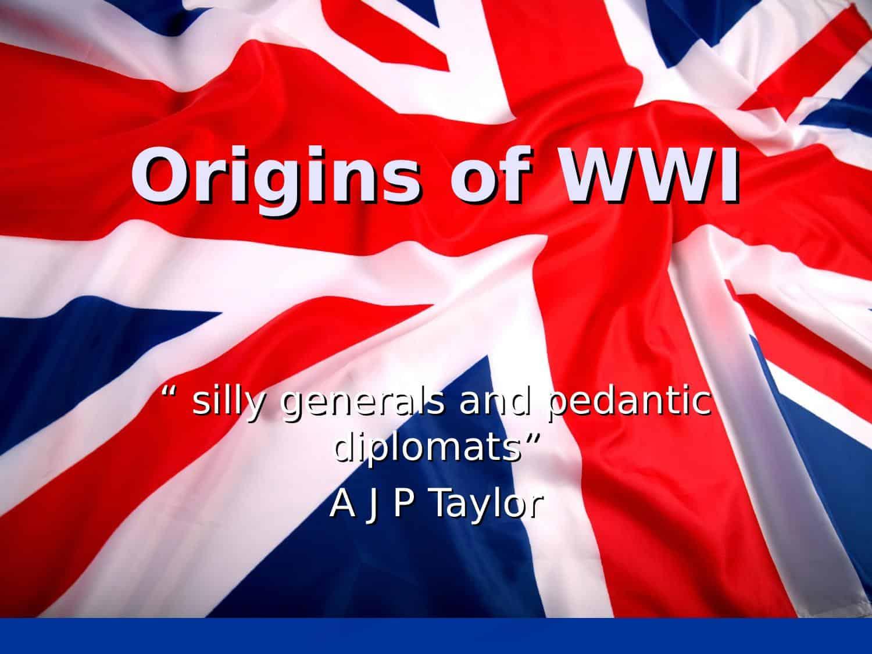 Origins Of Wwi Powerpoint
