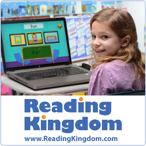 Review of Reading Kingdom from a homeschooling family.  Reading Kingdom is an online program that teaches kids to read and write to a third grade level.